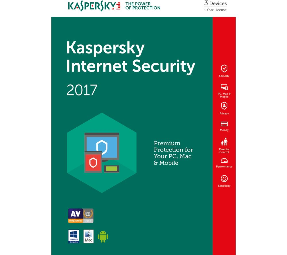 Kaspersky Internet Security 2017 (1 Year License) – £39